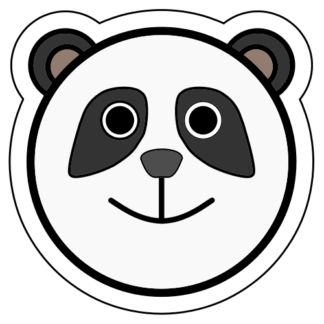 Happy Panda Bear Sticker